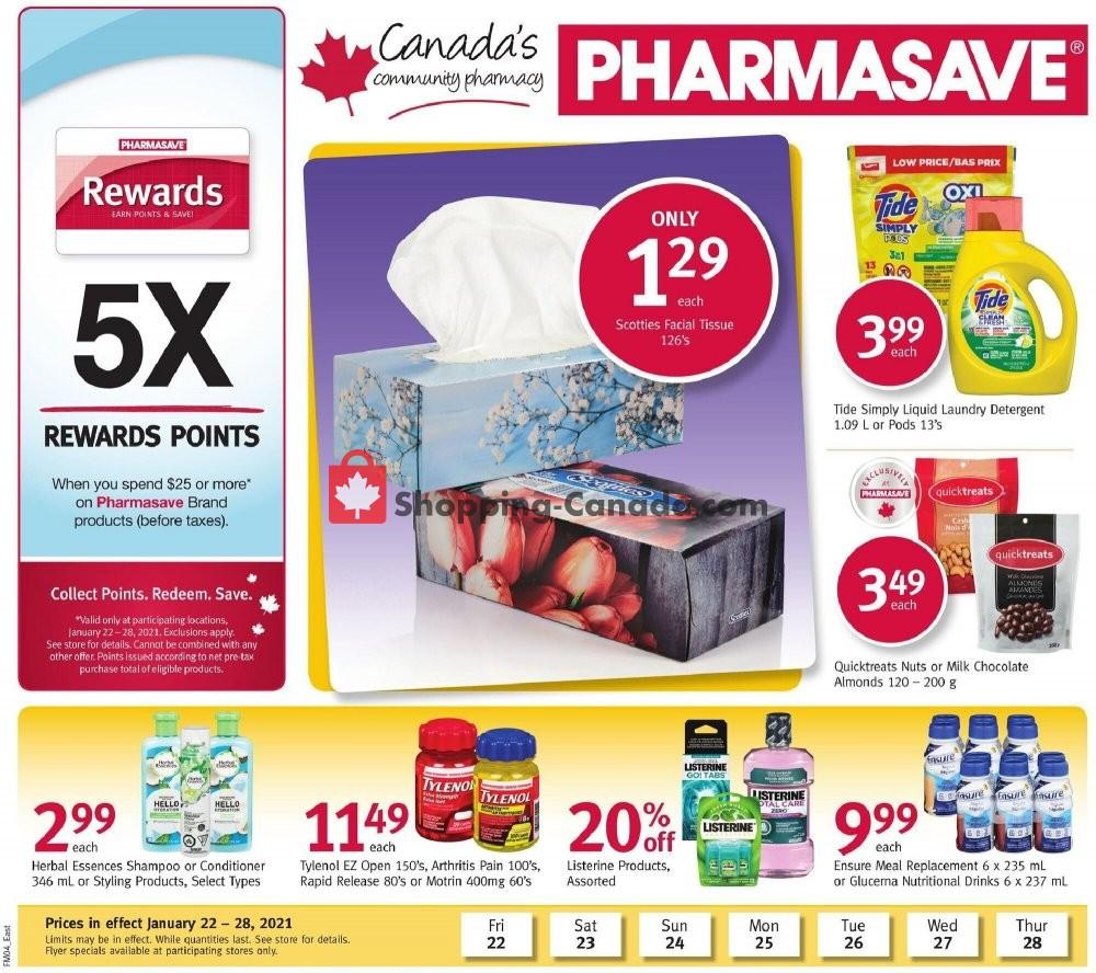 Flyer Pharmasave Canada - from Friday January 22, 2021 to Thursday January 28, 2021