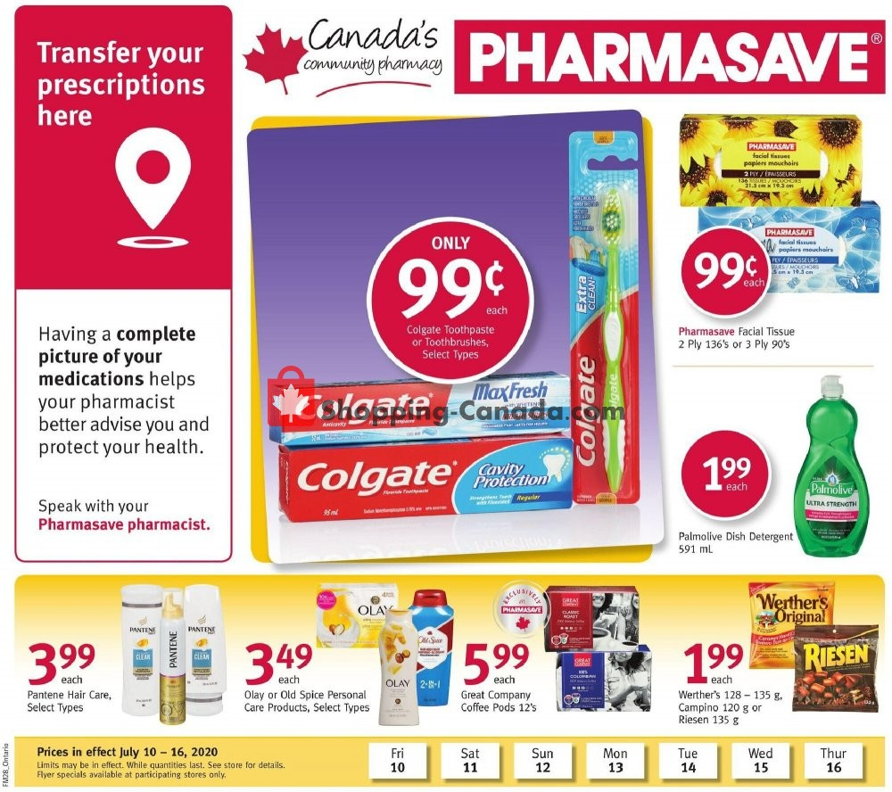 Flyer Pharmasave Canada - from Friday July 10, 2020 to Thursday July 16, 2020