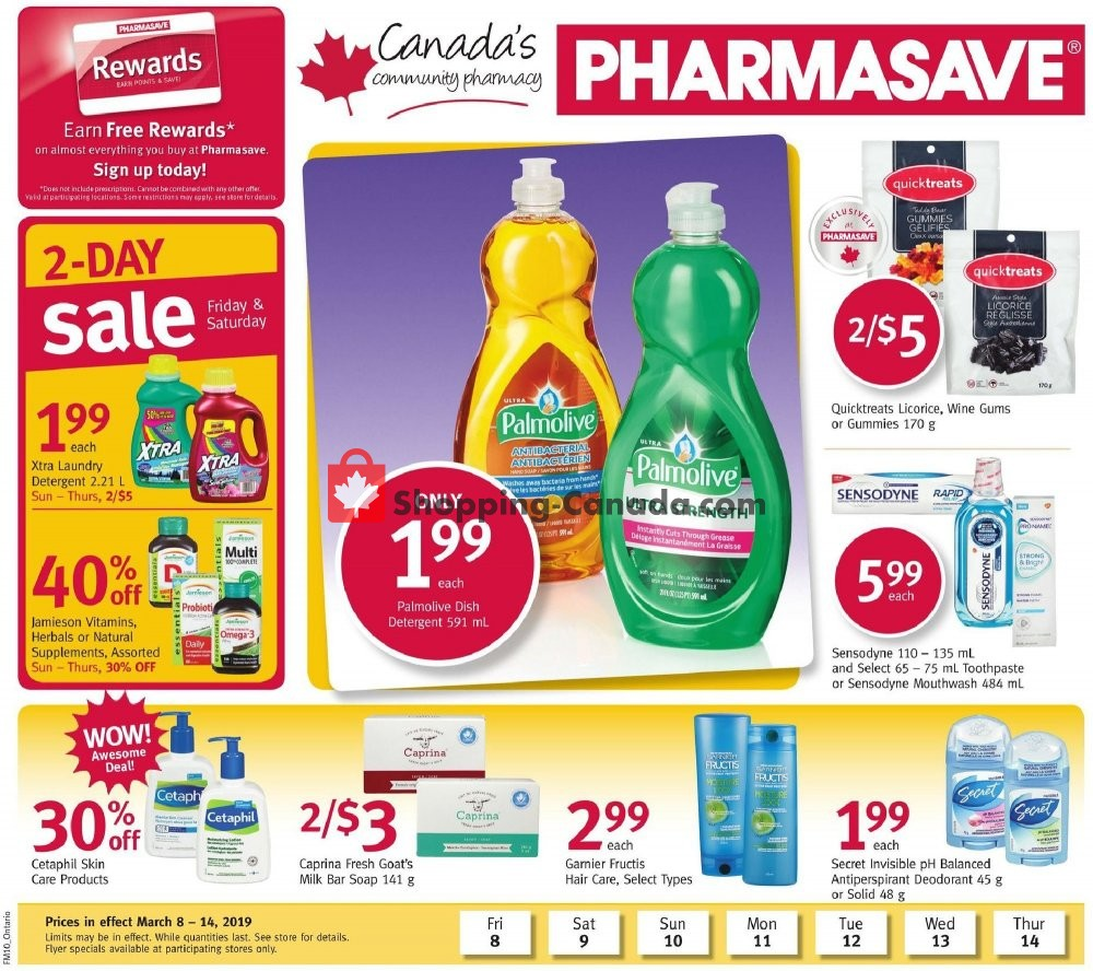 Flyer Pharmasave Canada - from Friday March 8, 2019 to Thursday March 14, 2019