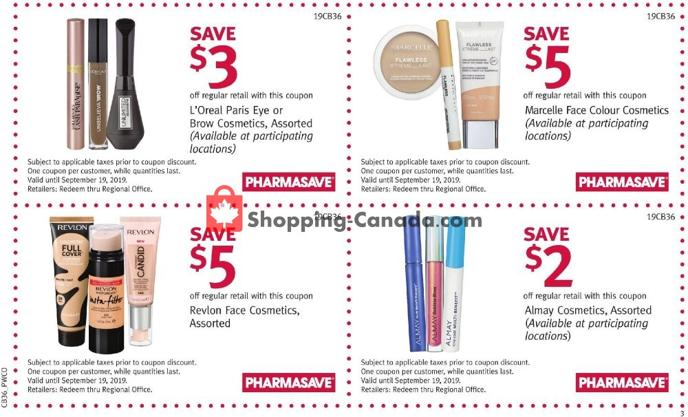 Flyer Pharmasave Canada - from Friday September 6, 2019 to Thursday September 19, 2019
