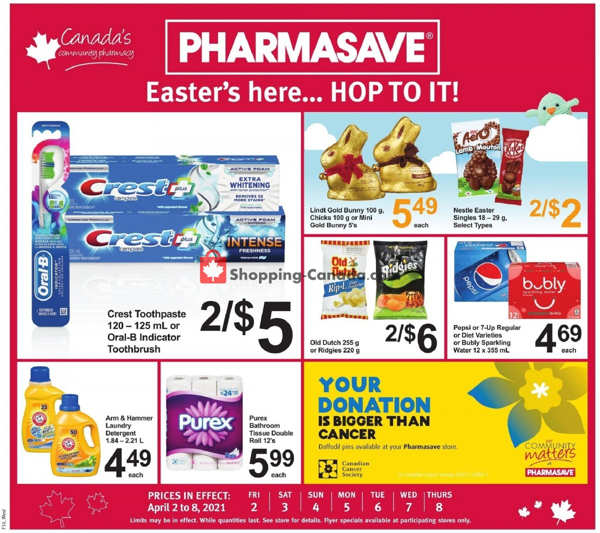 Flyer Pharmasave Canada - from Friday April 2, 2021 to Thursday April 8, 2021