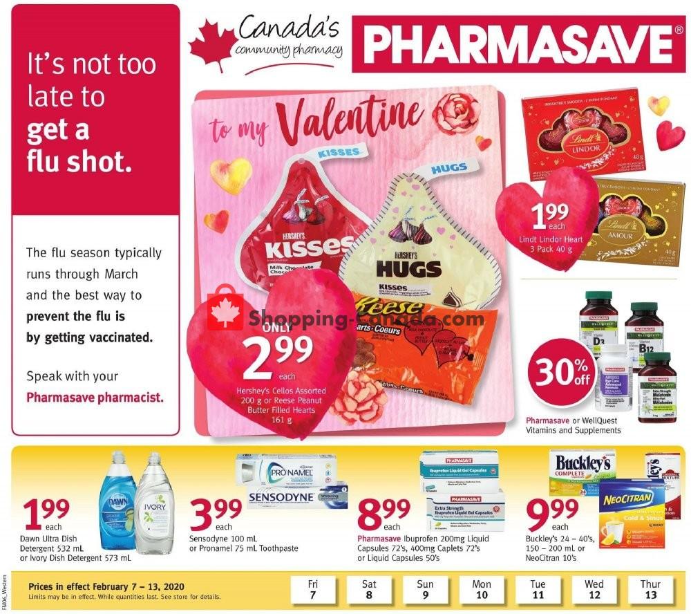 Flyer Pharmasave Canada - from Friday February 7, 2020 to Thursday February 13, 2020