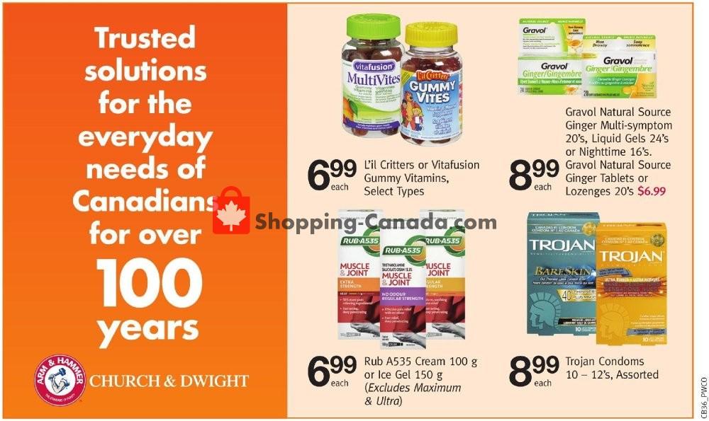 Flyer Pharmasave Canada - from Friday September 6, 2019 to Thursday September 19, 2019