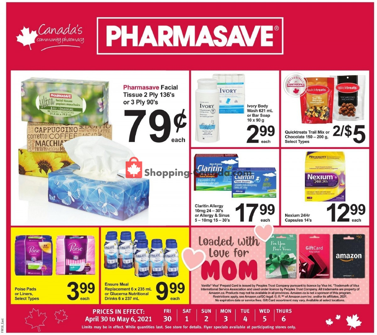 Flyer Pharmasave Canada - from Friday April 30, 2021 to Thursday May 6, 2021