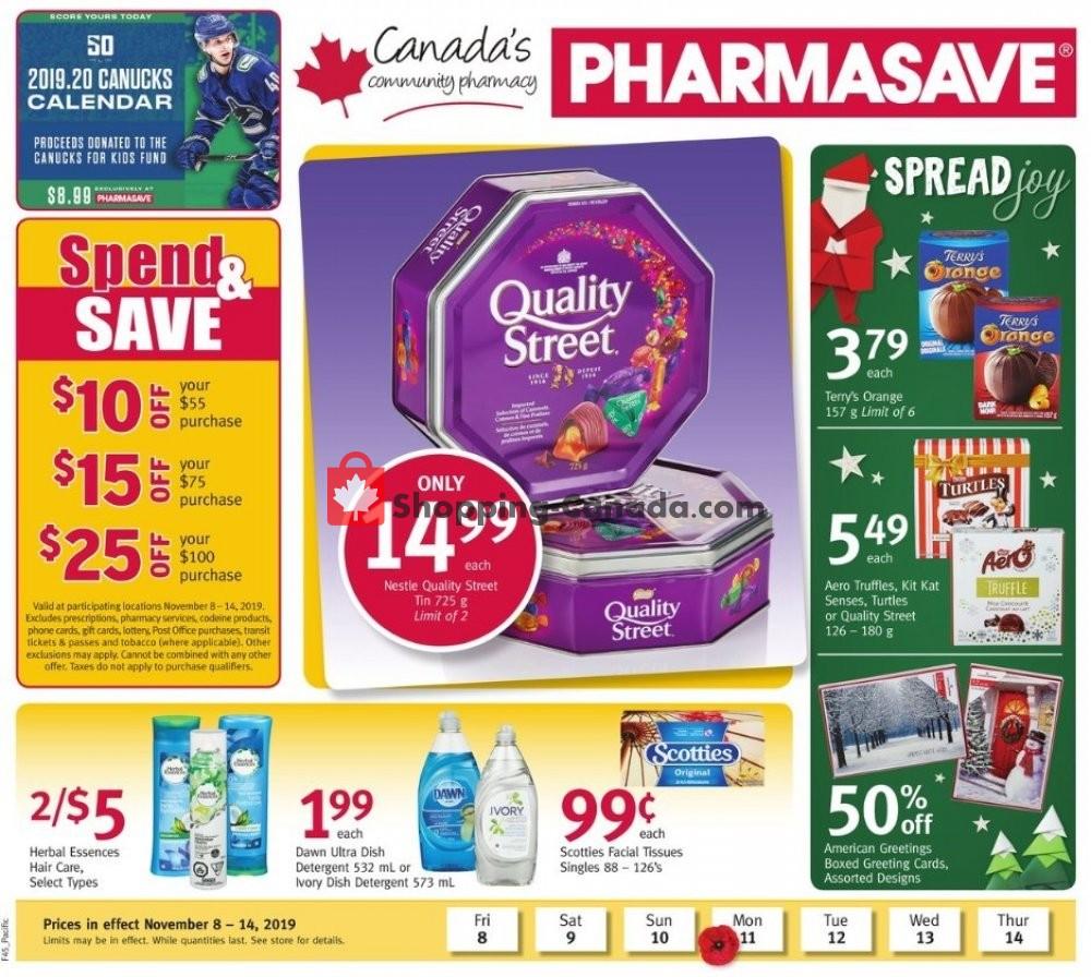 Flyer Pharmasave Canada - from Friday November 8, 2019 to Thursday November 14, 2019