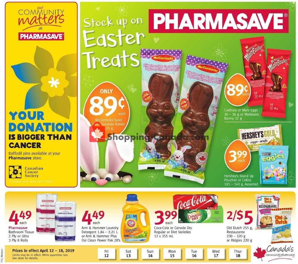 Flyer Pharmasave Canada - from Friday April 12, 2019 to Thursday April 18, 2019