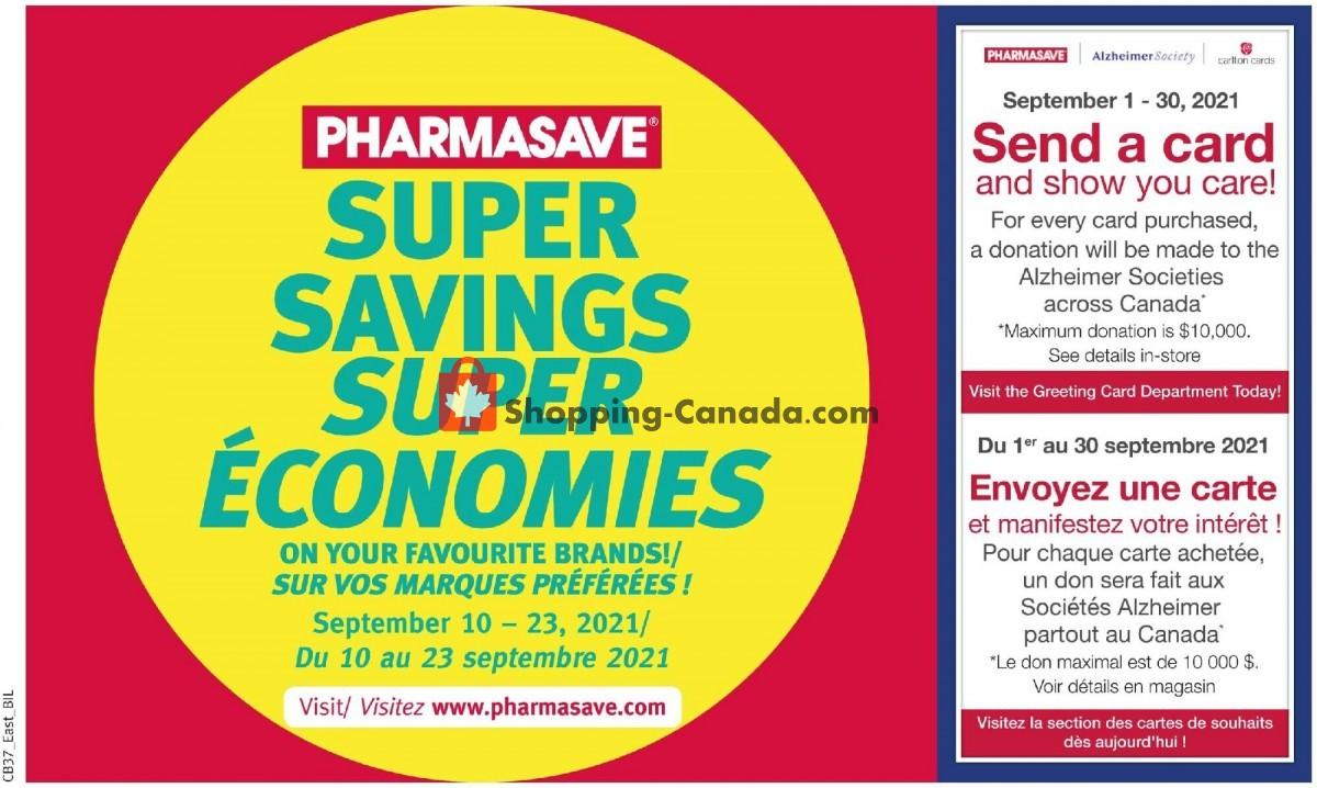 Flyer Pharmasave Canada - from Friday September 10, 2021 to Thursday September 23, 2021