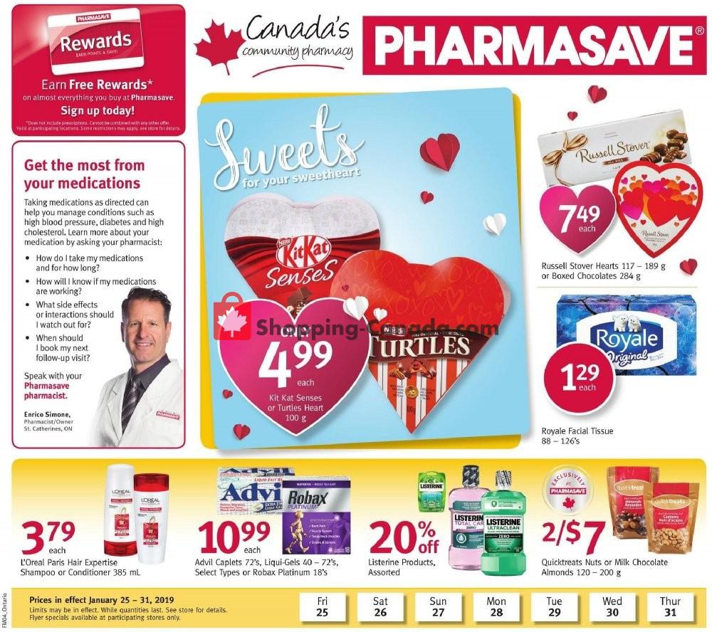 Flyer Pharmasave Canada - from Friday January 25, 2019 to Thursday January 31, 2019