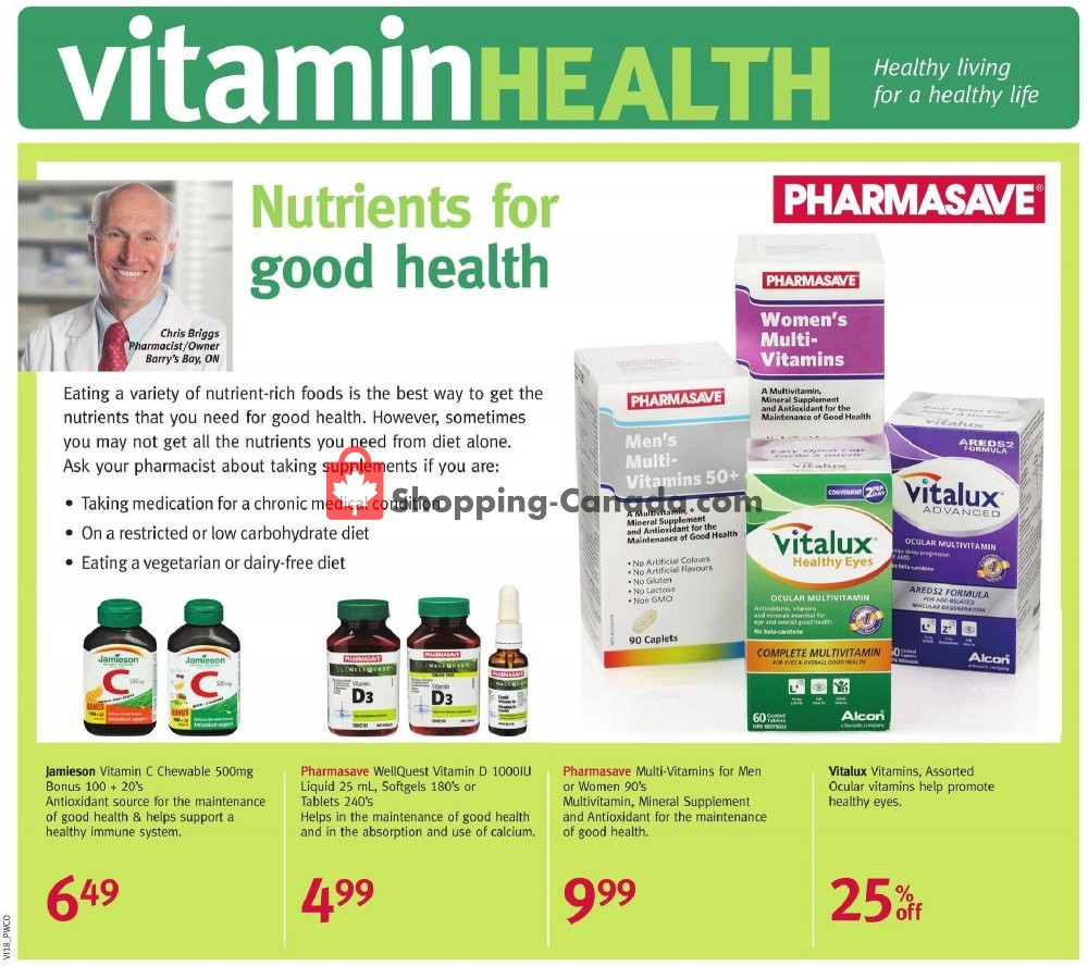Flyer Pharmasave Canada - from Friday May 1, 2020 to Thursday May 28, 2020