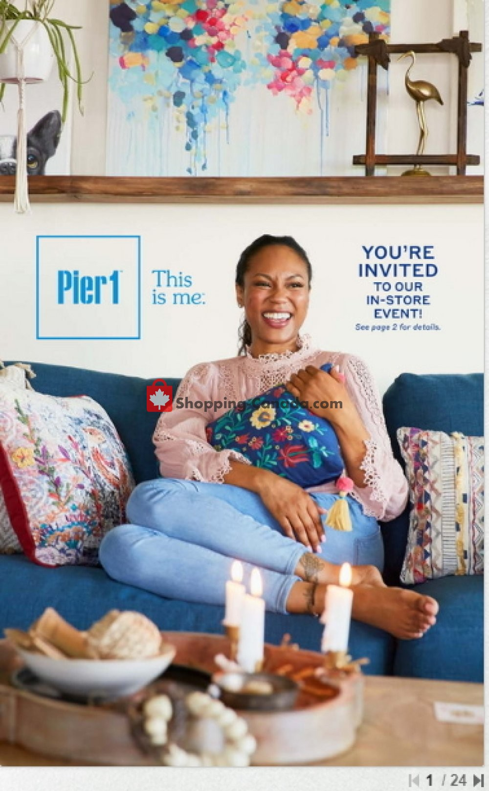 Flyer Pier 1 Imports Canada - from Saturday September 1, 2018 to Sunday September 30, 2018