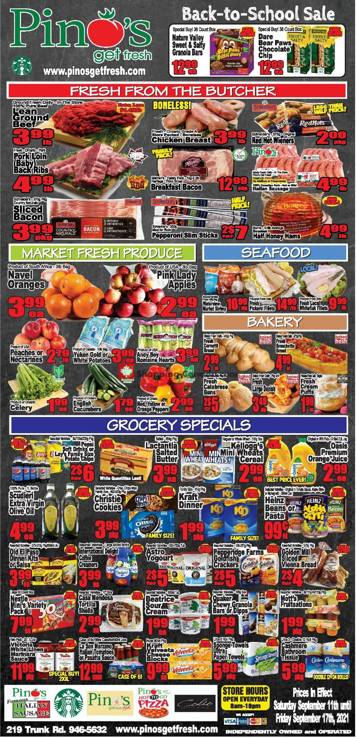 Flyer Pino's Canada - from Saturday September 11, 2021 to Friday September 17, 2021