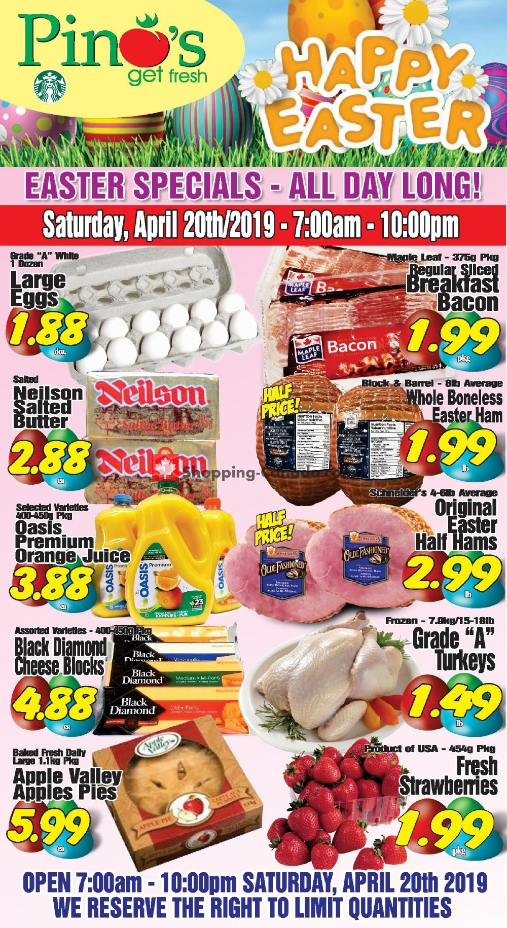 Flyer Pino's Canada - from Friday April 19, 2019 to Saturday April 20, 2019