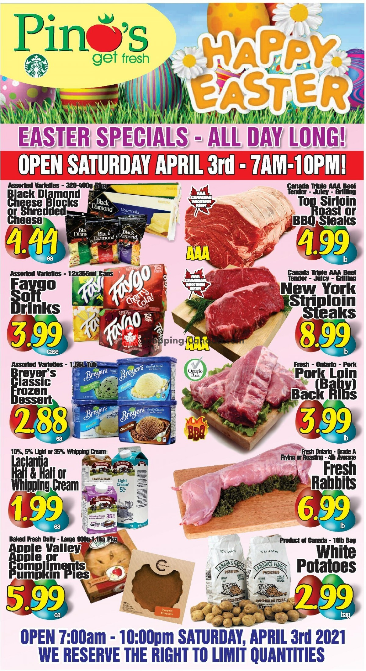 Flyer Pino's Canada - from Saturday April 3, 2021 to Friday April 9, 2021