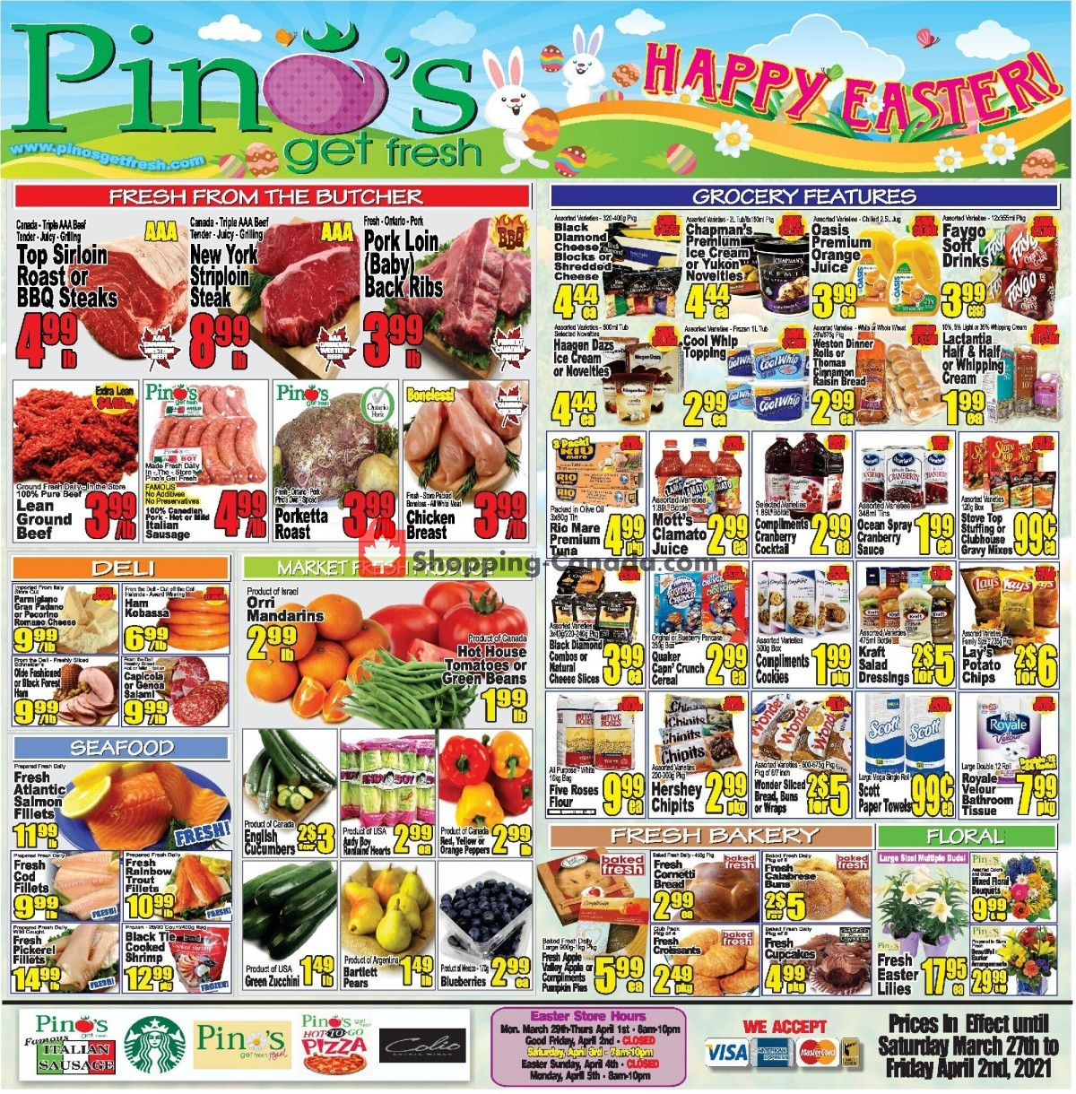 Flyer Pino's Canada - from Saturday March 27, 2021 to Friday April 2, 2021