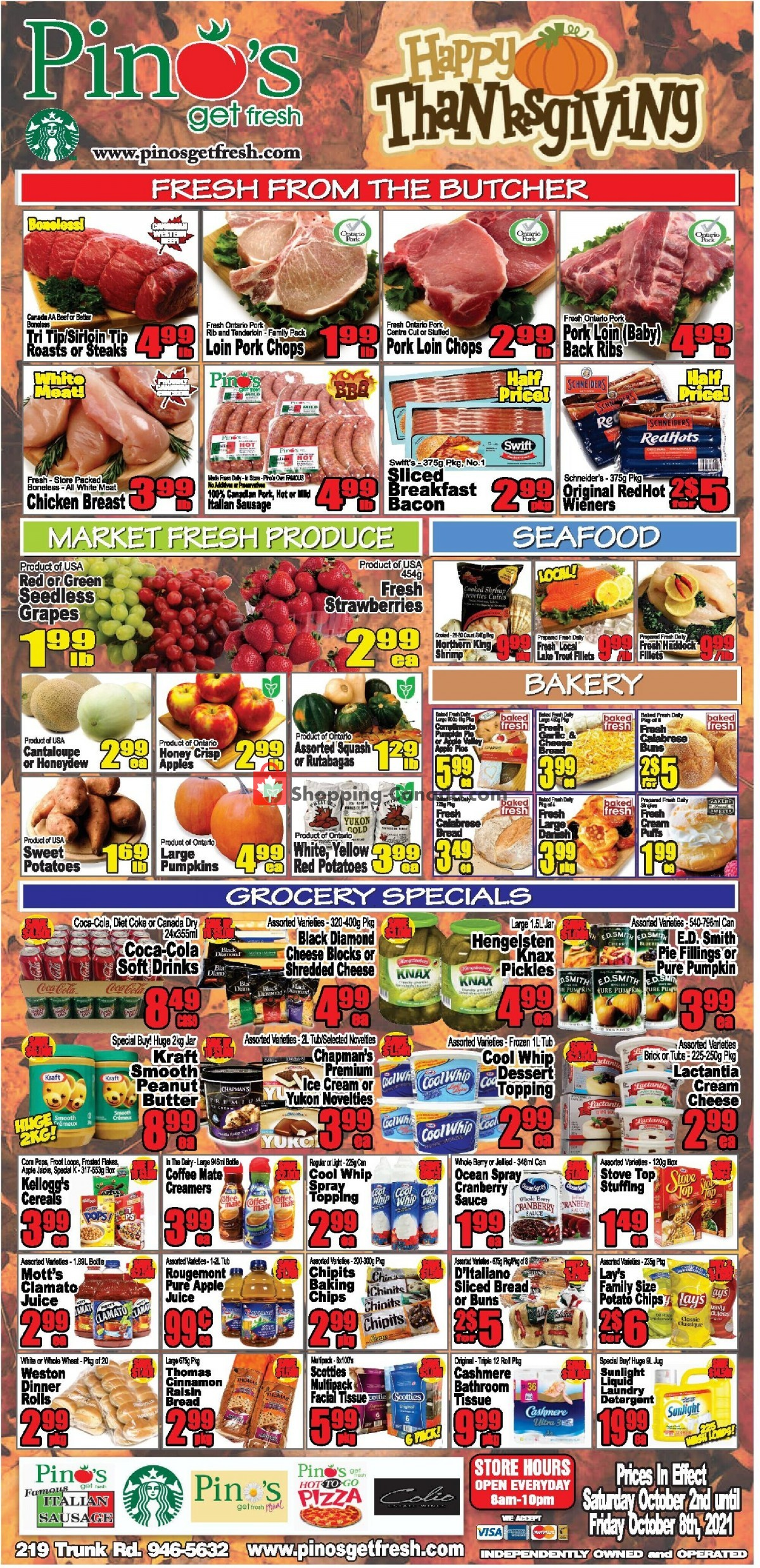 Flyer Pino's Canada - from Saturday October 2, 2021 to Friday October 8, 2021