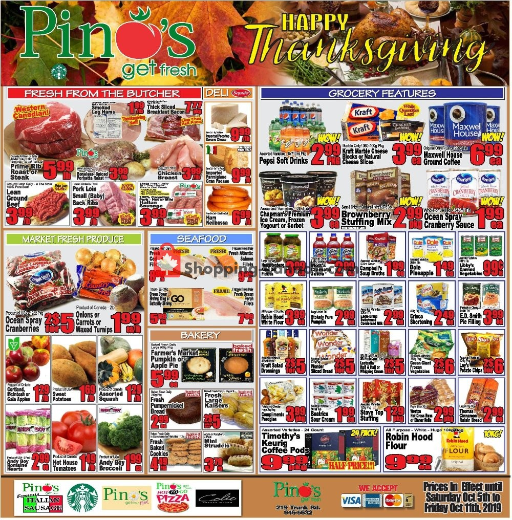 Flyer Pino's Canada - from Saturday October 5, 2019 to Friday October 11, 2019