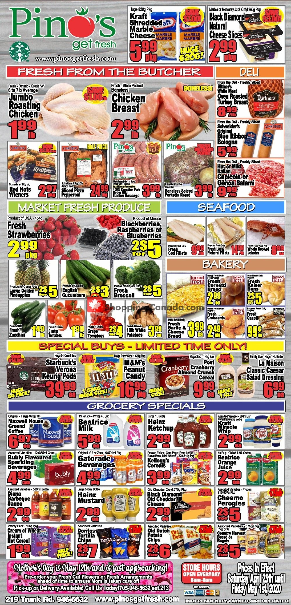 Flyer Pino's Canada - from Saturday April 25, 2020 to Friday May 1, 2020
