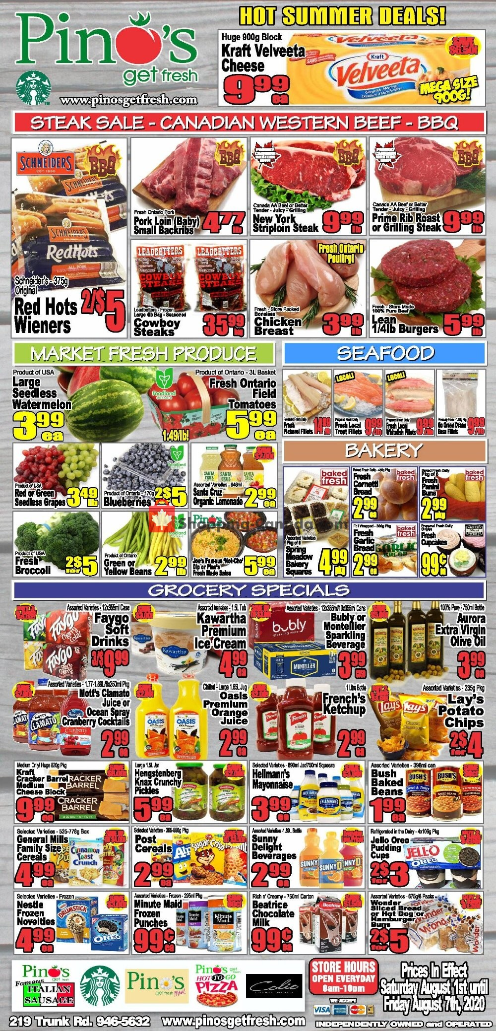 Flyer Pino's Canada - from Saturday August 1, 2020 to Friday August 7, 2020