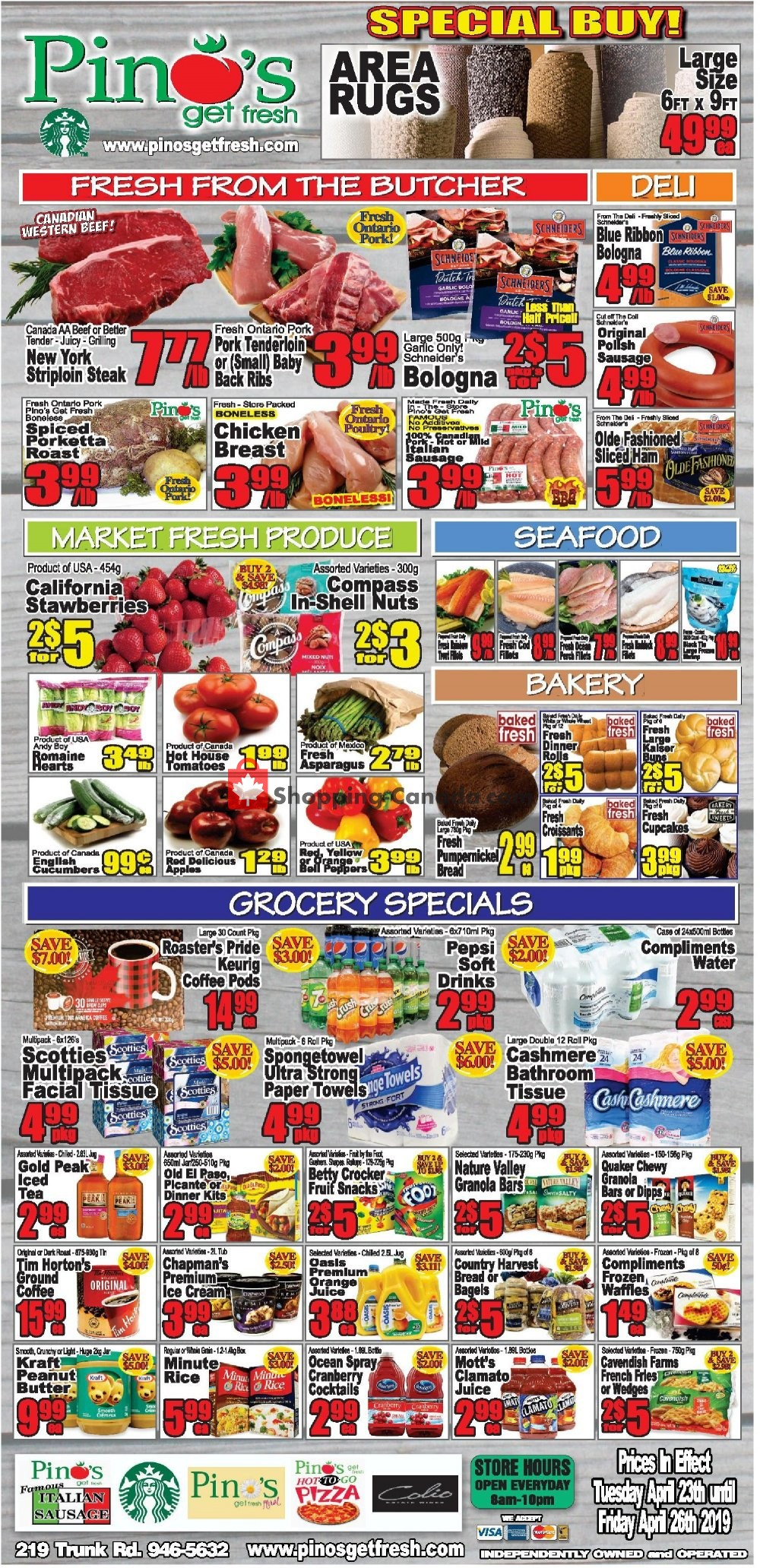Flyer Pino's Canada - from Tuesday April 23, 2019 to Friday April 26, 2019