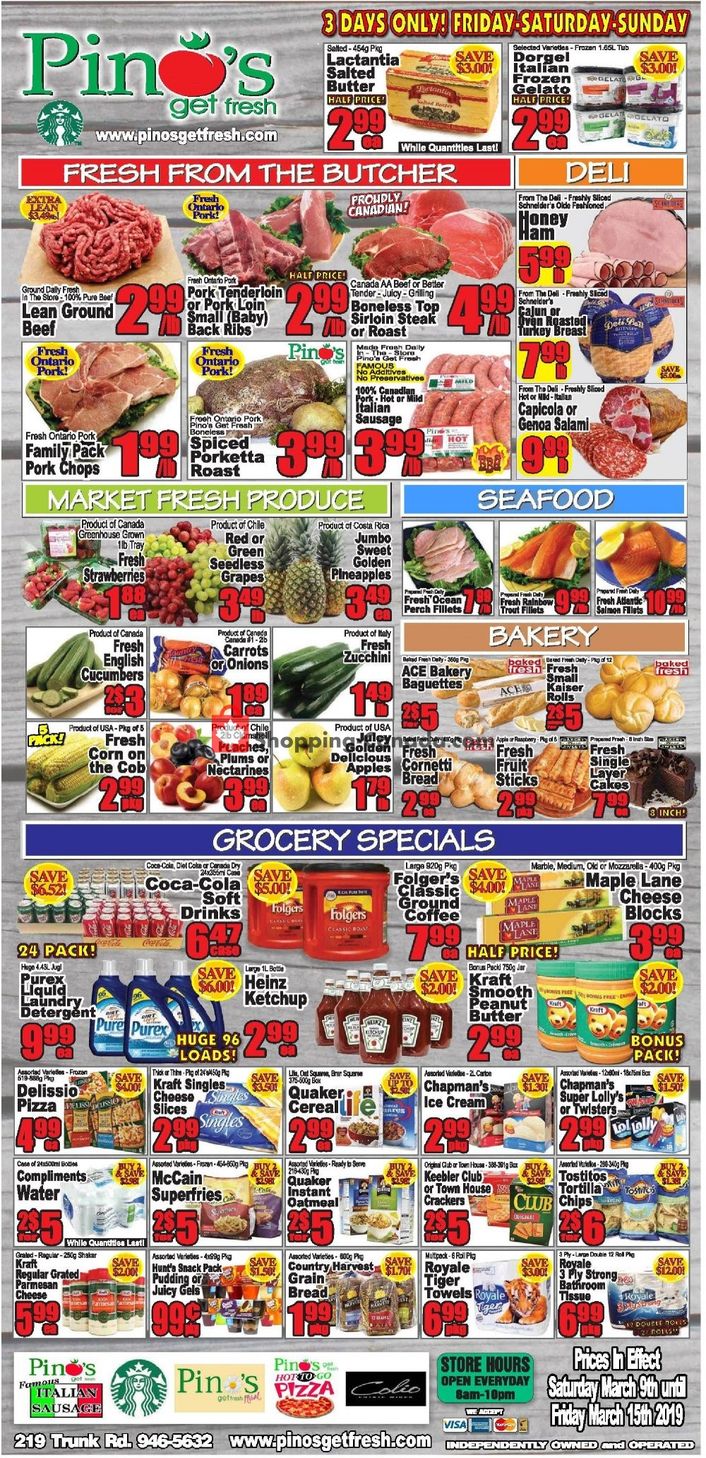 Flyer Pino's Canada - from Saturday March 9, 2019 to Friday March 15, 2019