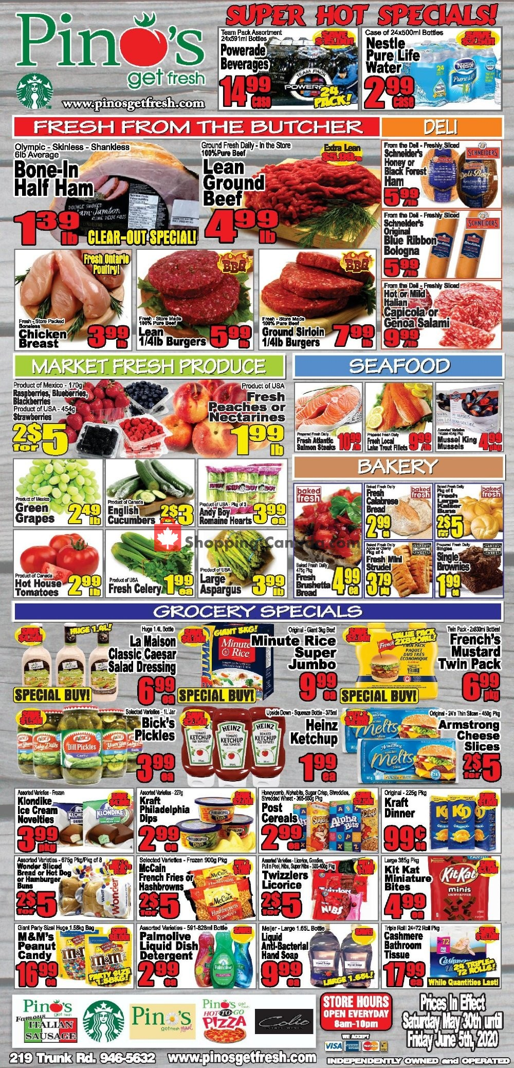 Flyer Pino's Canada - from Saturday May 30, 2020 to Friday June 5, 2020