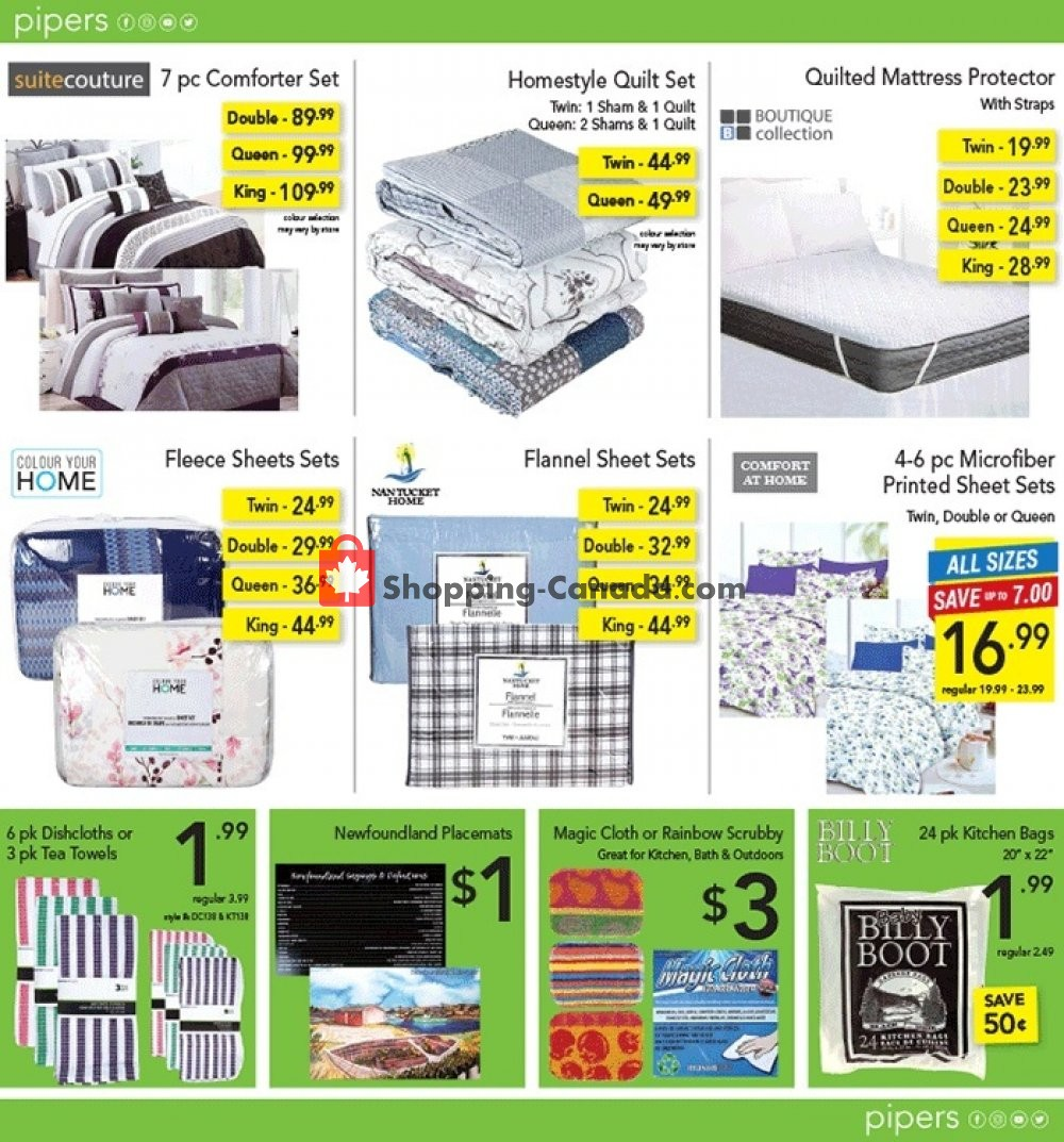 Flyer Pipers Superstore Canada - from Thursday September 5, 2019 to Wednesday September 11, 2019
