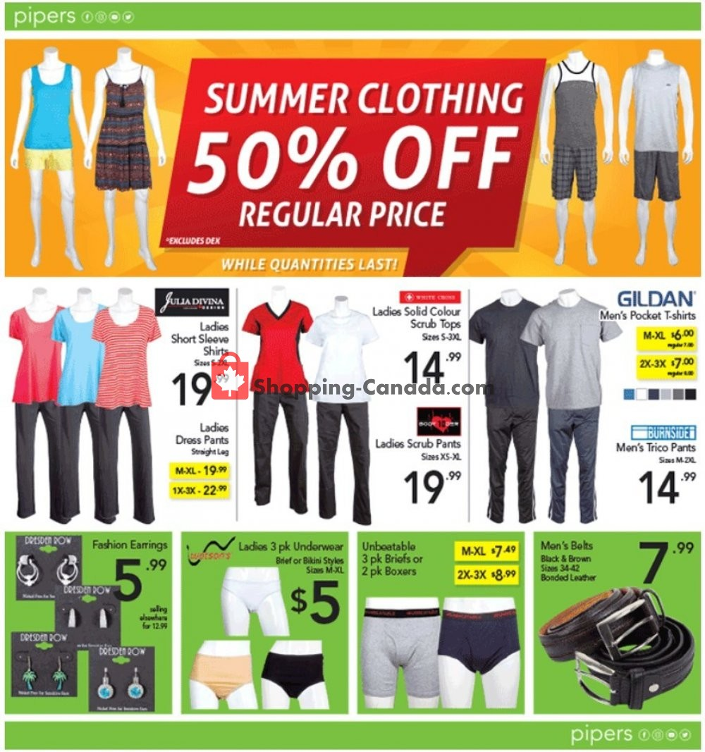 Flyer Pipers Superstore Canada - from Thursday August 8, 2019 to Wednesday August 14, 2019