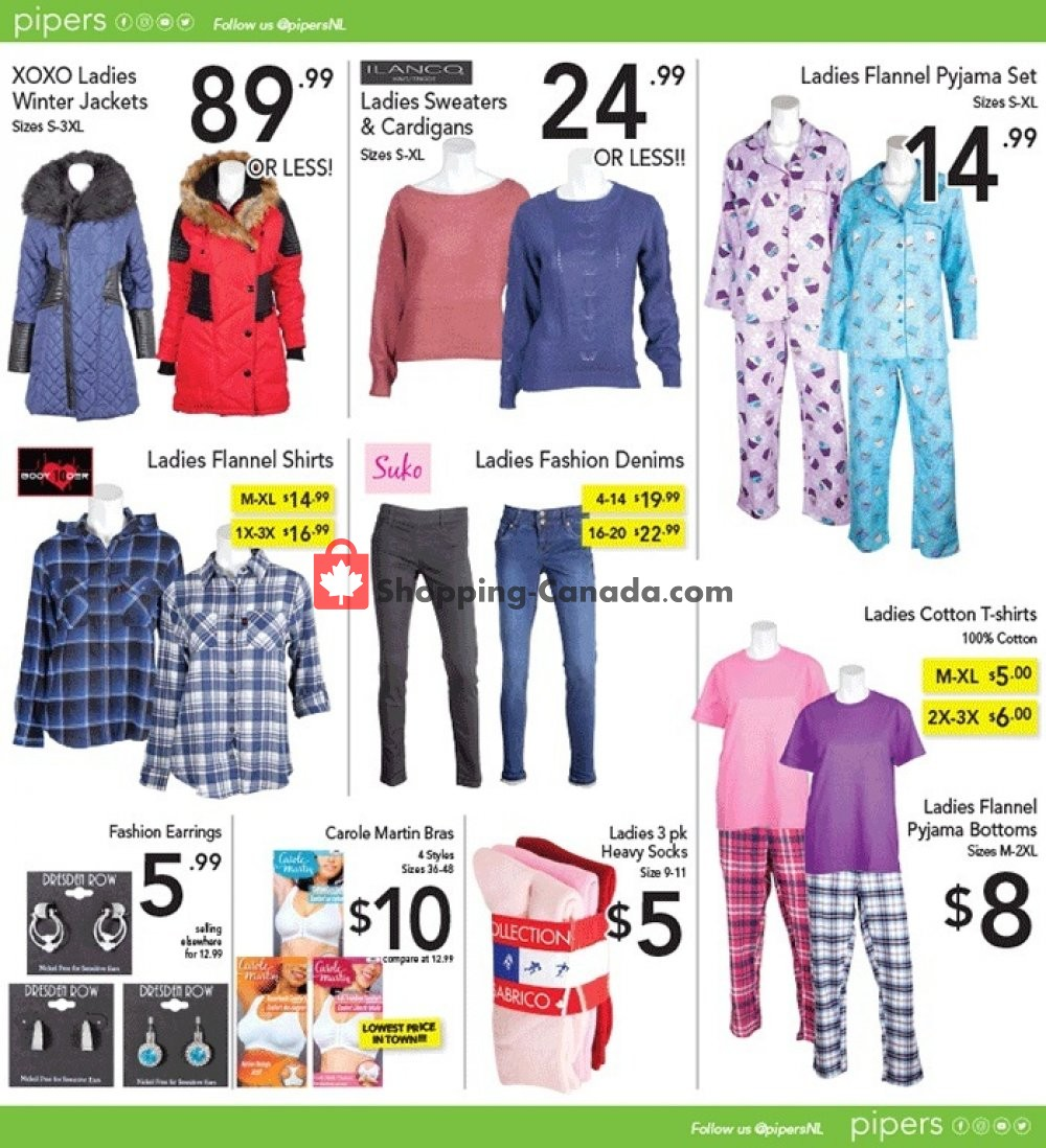 Flyer Pipers Superstore Canada - from Thursday October 17, 2019 to Wednesday October 23, 2019