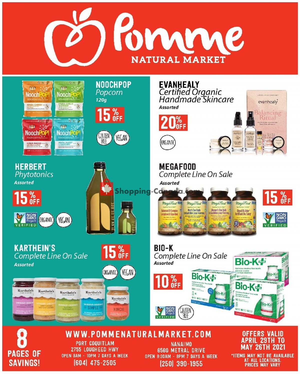 Flyer Pomme Natural Market Canada - from Thursday April 29, 2021 to Wednesday May 26, 2021