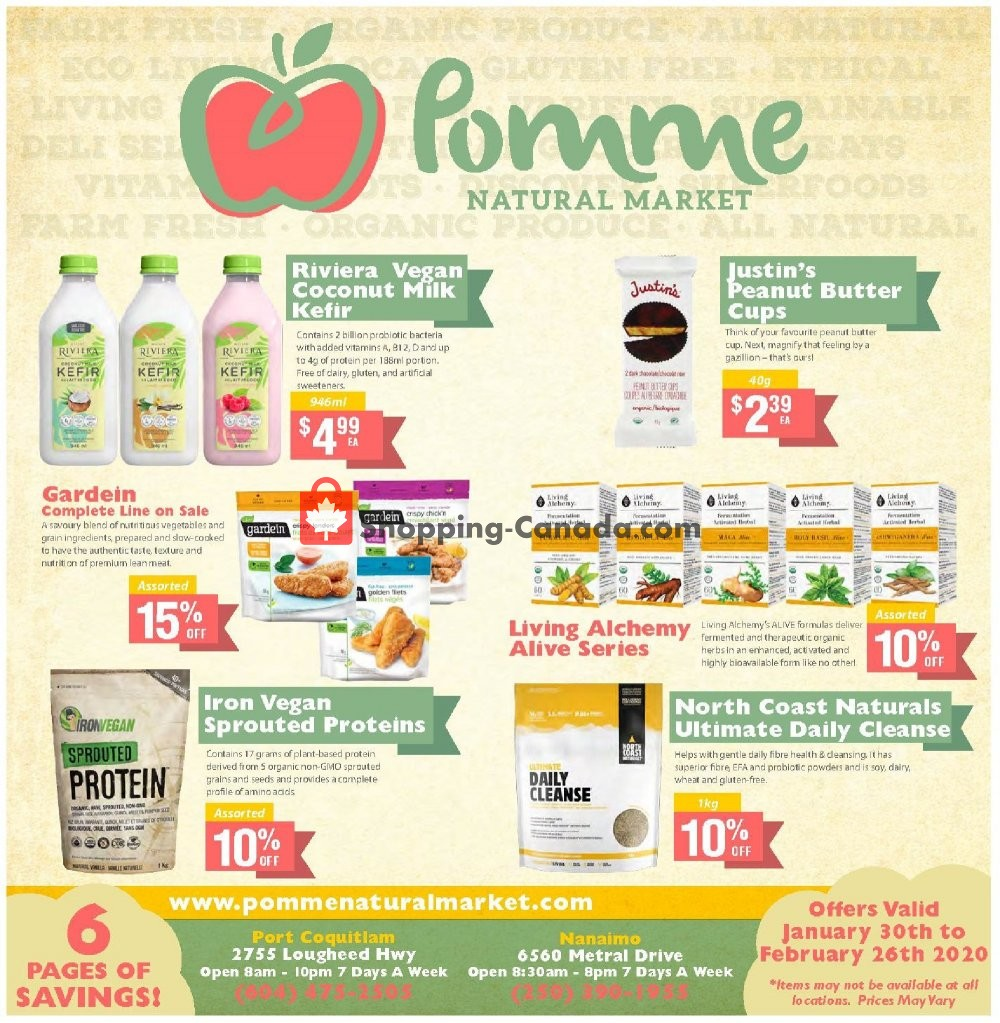 Flyer Pomme Natural Market Canada - from Thursday January 30, 2020 to Wednesday February 26, 2020