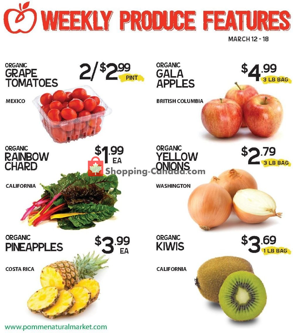 Flyer Pomme Natural Market Canada - from Tuesday March 12, 2019 to Monday March 18, 2019
