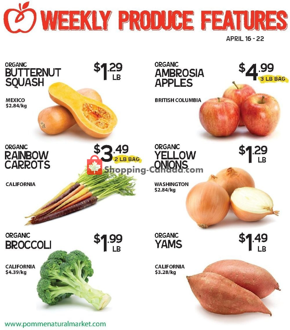 Flyer Pomme Natural Market Canada - from Tuesday April 16, 2019 to Monday April 22, 2019