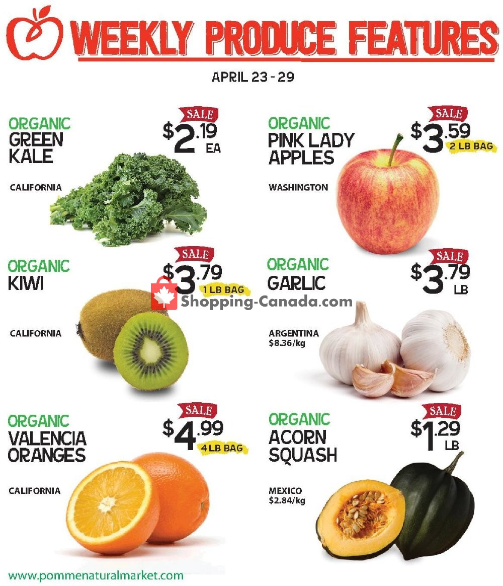 Flyer Pomme Natural Market Canada - from Tuesday April 23, 2019 to Monday April 29, 2019