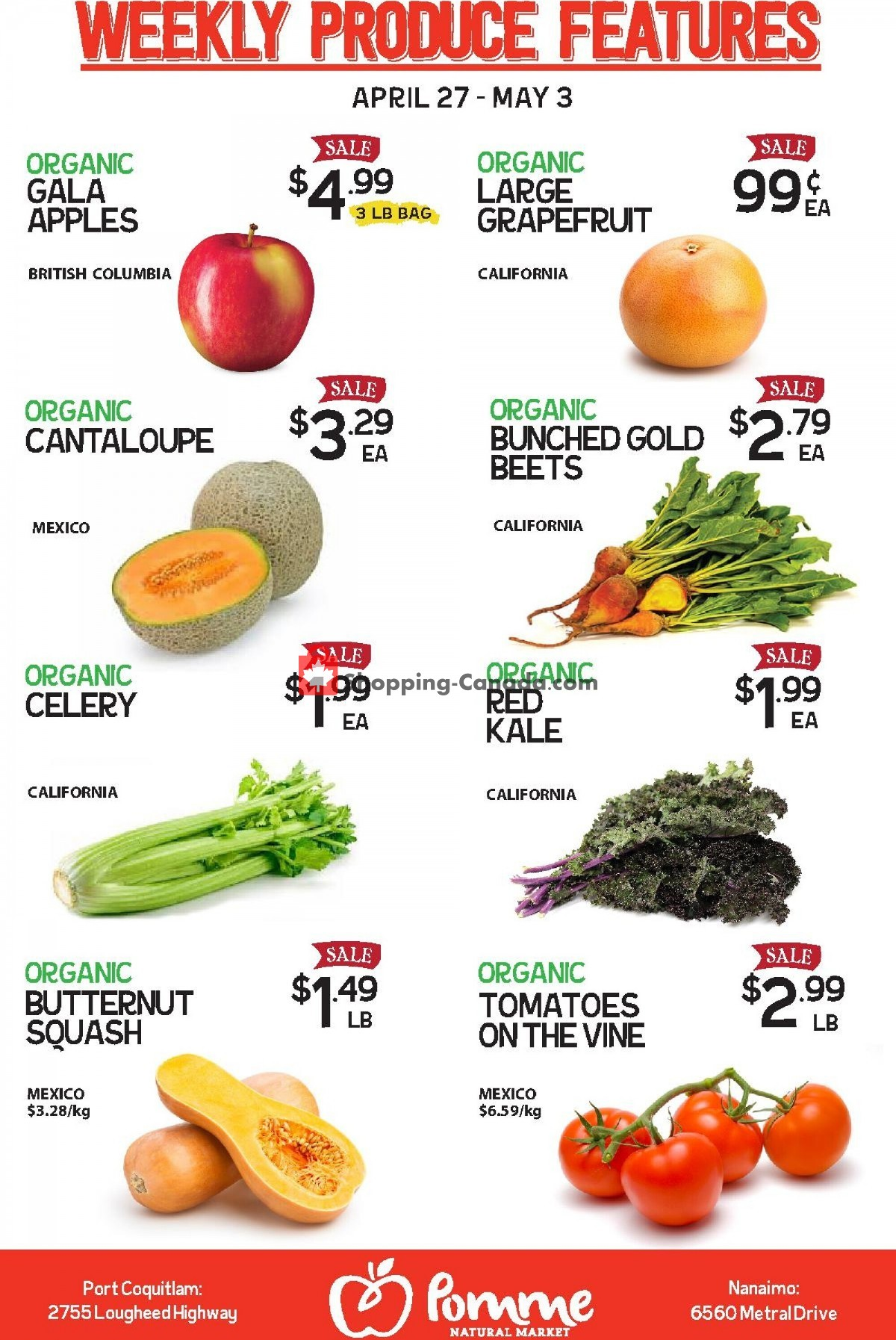 Flyer Pomme Natural Market Canada - from Tuesday April 27, 2021 to Monday May 3, 2021