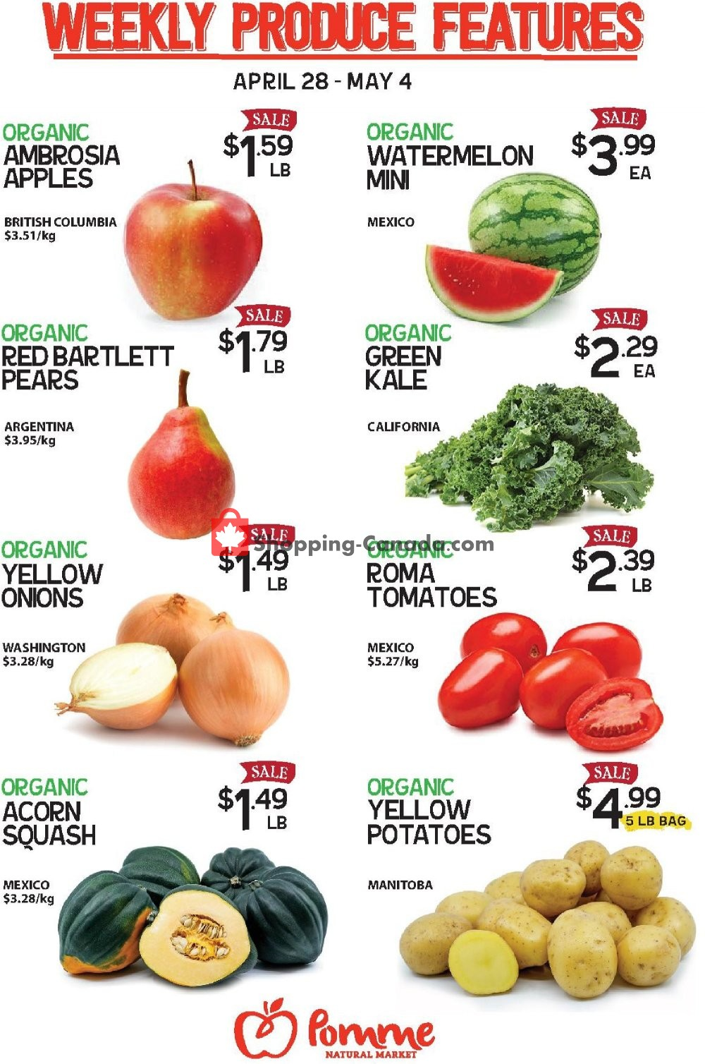 Flyer Pomme Natural Market Canada - from Tuesday April 28, 2020 to Monday May 4, 2020