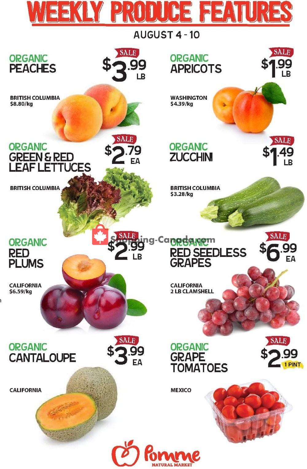 Flyer Pomme Natural Market Canada - from Tuesday August 4, 2020 to Monday August 10, 2020
