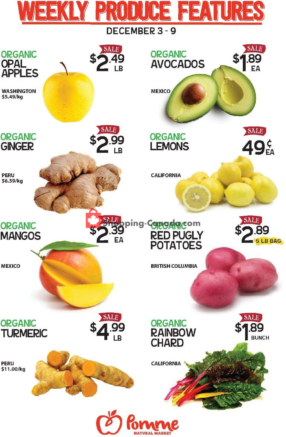 Flyer Pomme Natural Market Canada - from Tuesday December 3, 2019 to Monday December 9, 2019