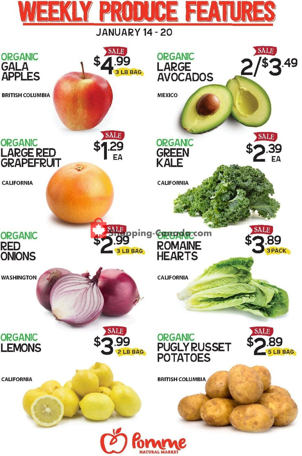 Flyer Pomme Natural Market Canada - from Tuesday January 14, 2020 to Monday January 20, 2020