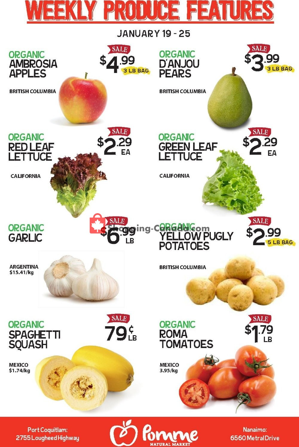 Flyer Pomme Natural Market Canada - from Tuesday January 19, 2021 to Monday January 25, 2021