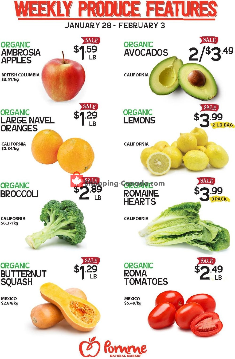 Flyer Pomme Natural Market Canada - from Tuesday January 28, 2020 to Monday February 3, 2020