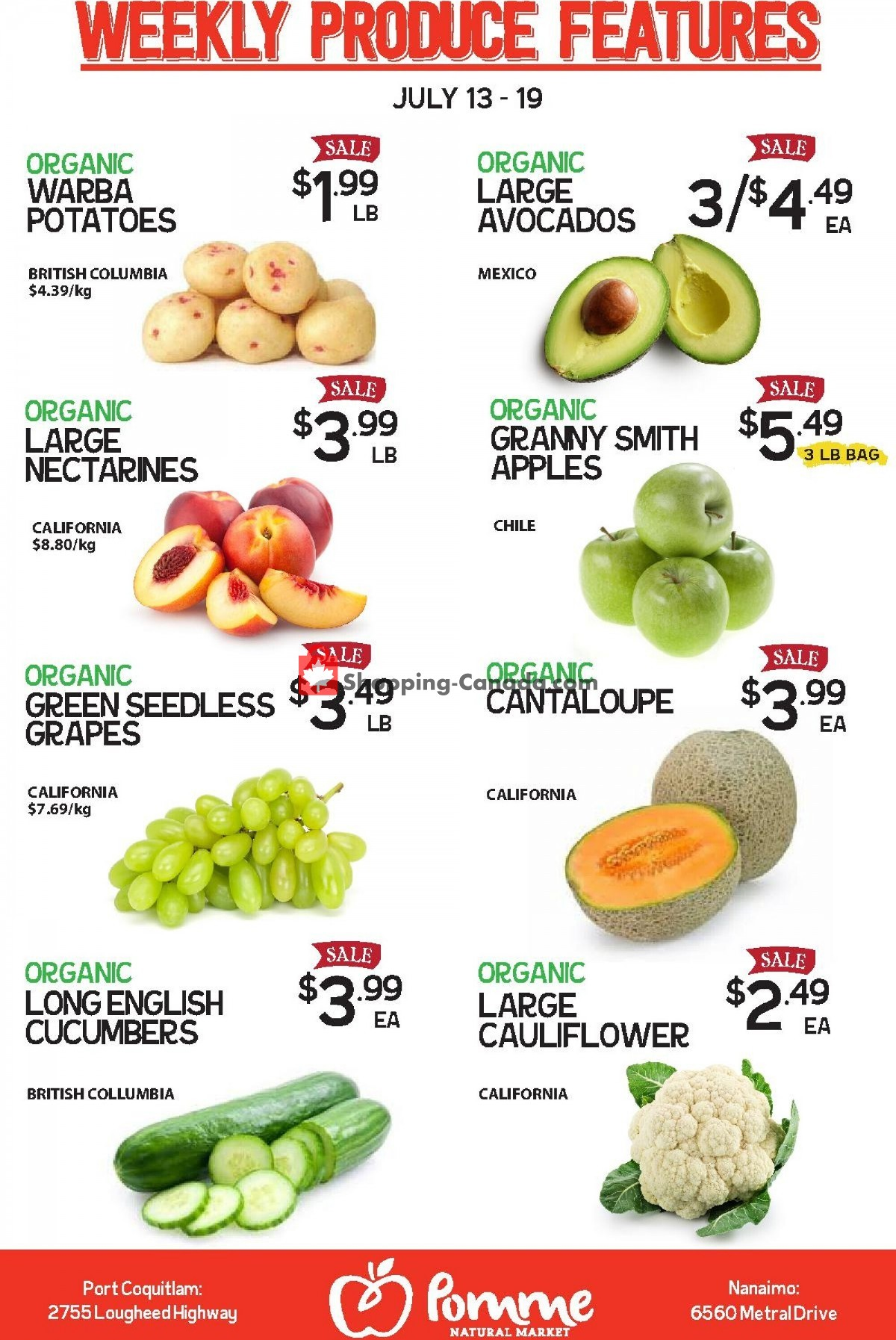 Flyer Pomme Natural Market Canada - from Tuesday July 13, 2021 to Monday July 19, 2021