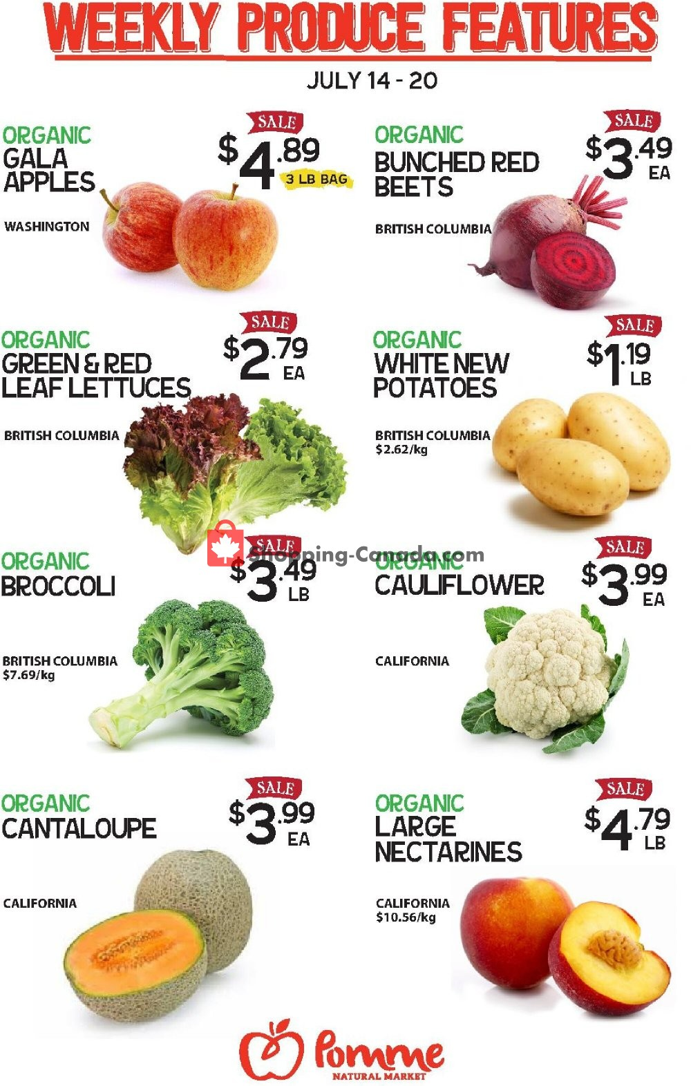 Flyer Pomme Natural Market Canada - from Tuesday July 14, 2020 to Monday July 20, 2020