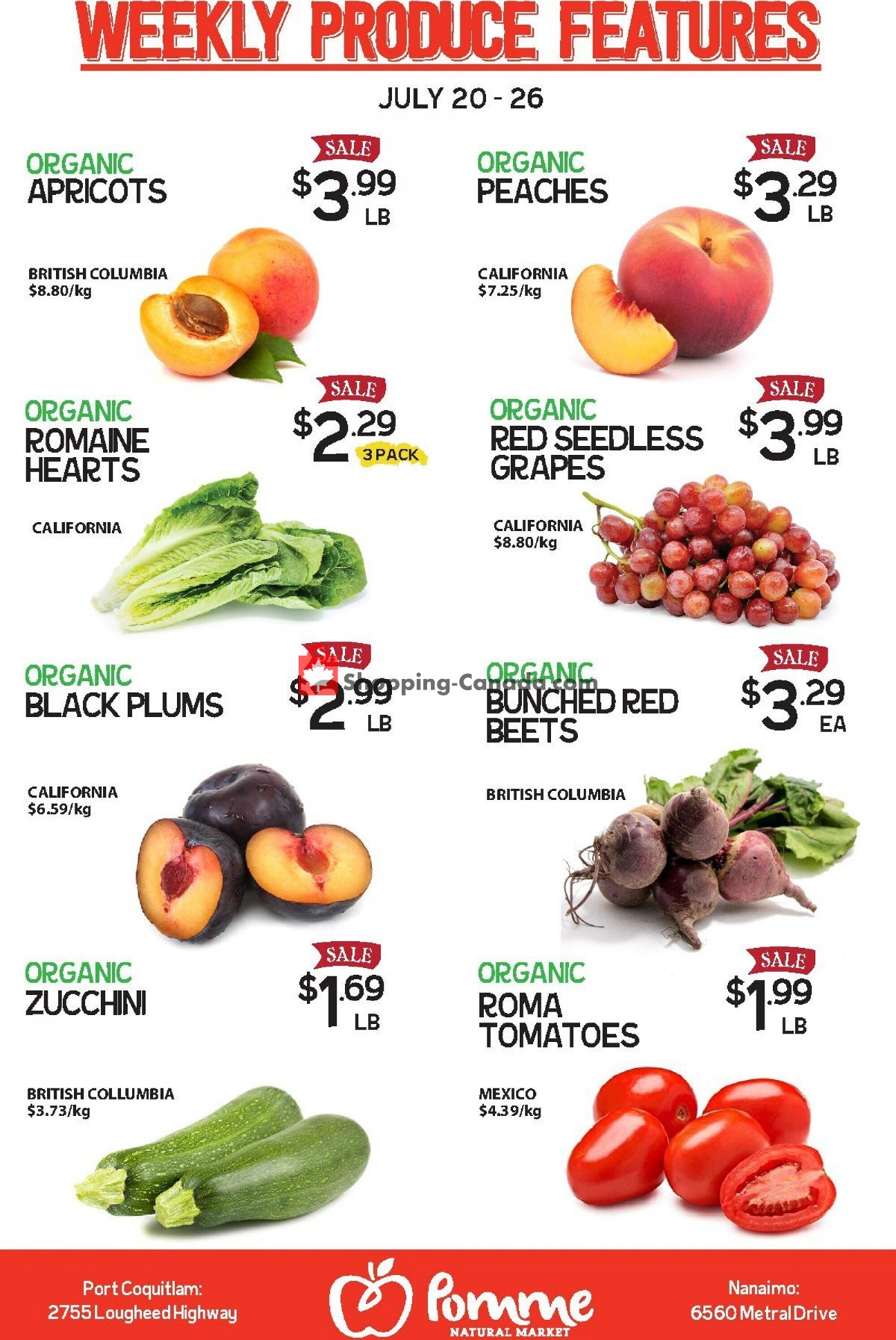 Flyer Pomme Natural Market Canada - from Tuesday July 20, 2021 to Monday July 26, 2021