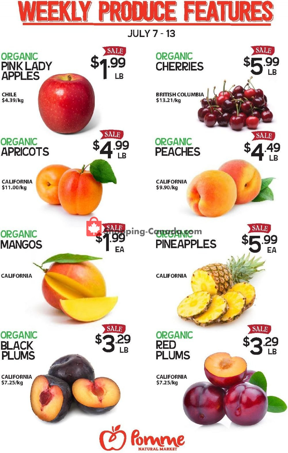 Flyer Pomme Natural Market Canada - from Tuesday July 7, 2020 to Monday July 13, 2020