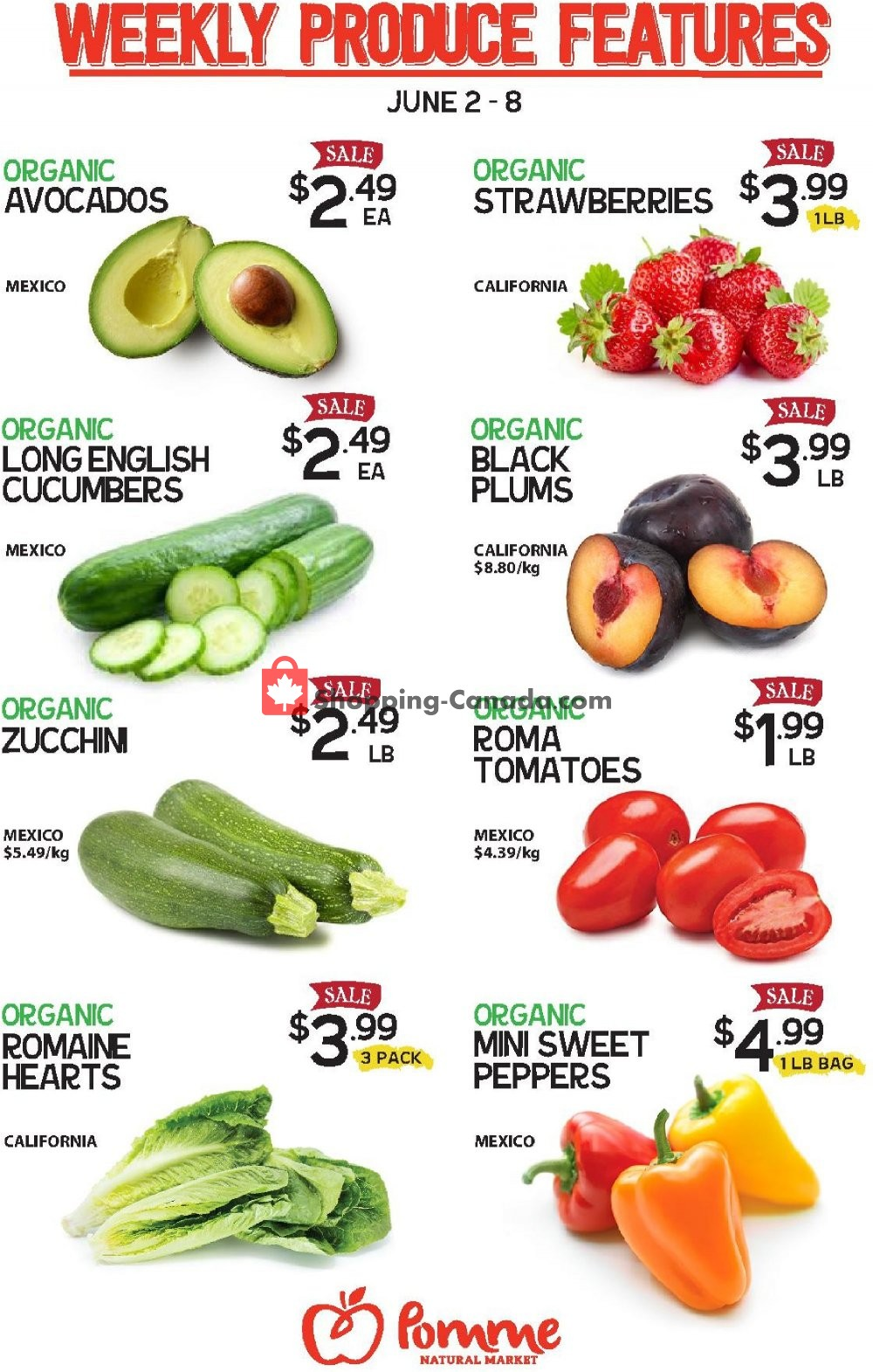 Flyer Pomme Natural Market Canada - from Tuesday June 2, 2020 to Monday June 8, 2020
