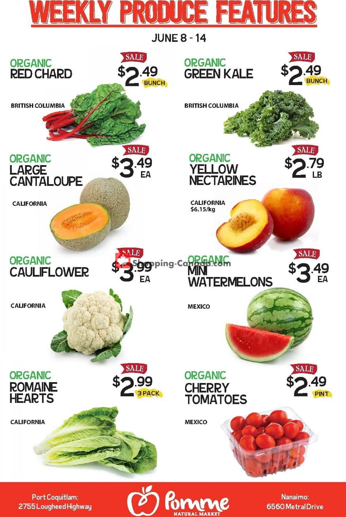 Flyer Pomme Natural Market Canada - from Tuesday June 8, 2021 to Monday June 14, 2021