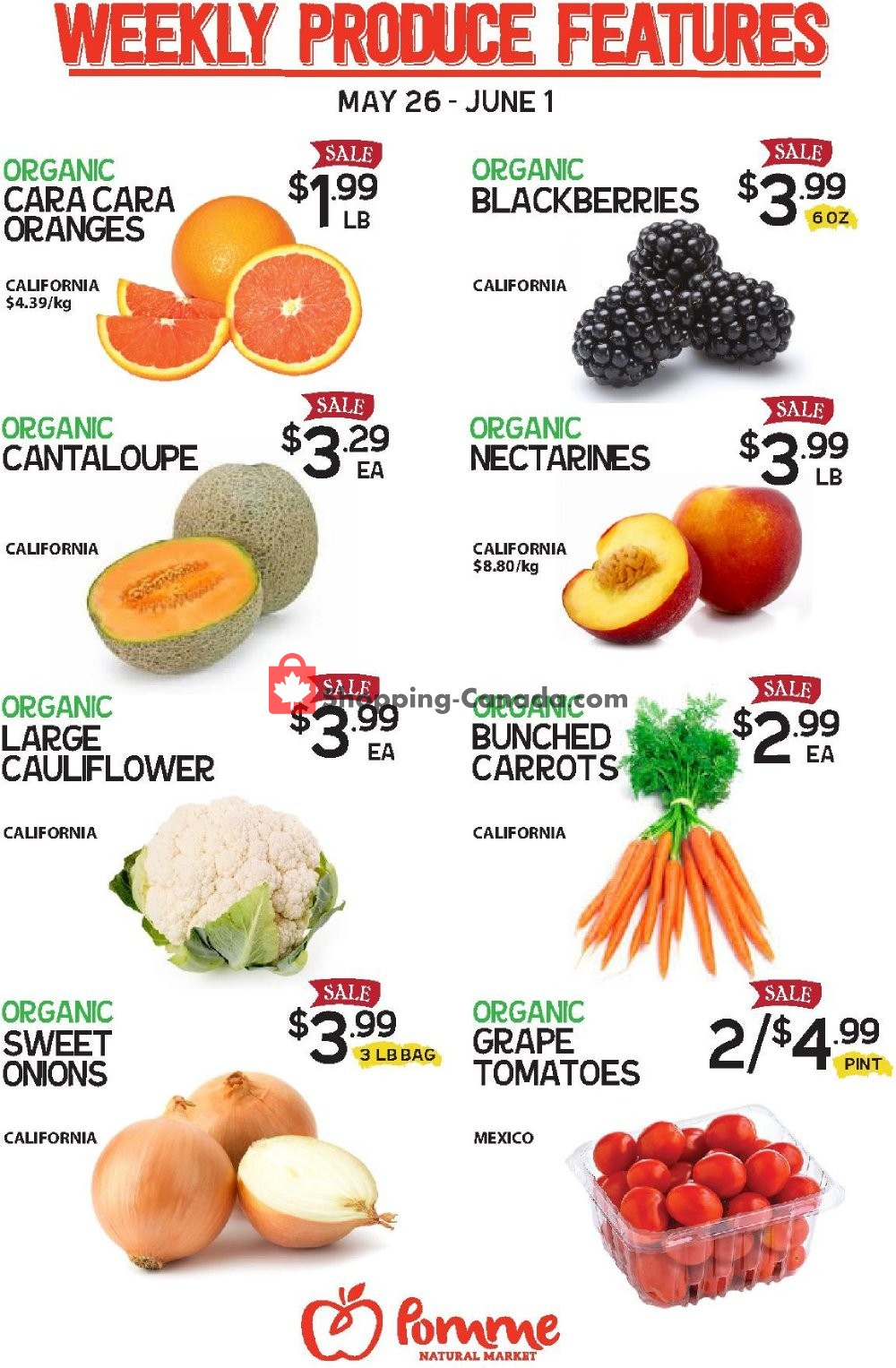 Flyer Pomme Natural Market Canada - from Tuesday May 26, 2020 to Monday June 1, 2020