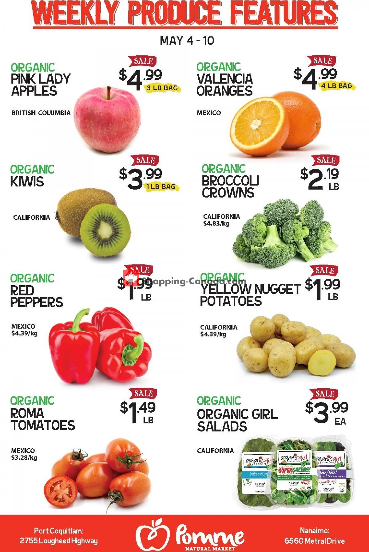 Flyer Pomme Natural Market Canada - from Tuesday May 4, 2021 to Monday May 10, 2021