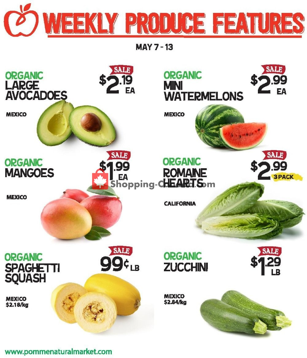 Flyer Pomme Natural Market Canada - from Tuesday May 7, 2019 to Monday May 13, 2019