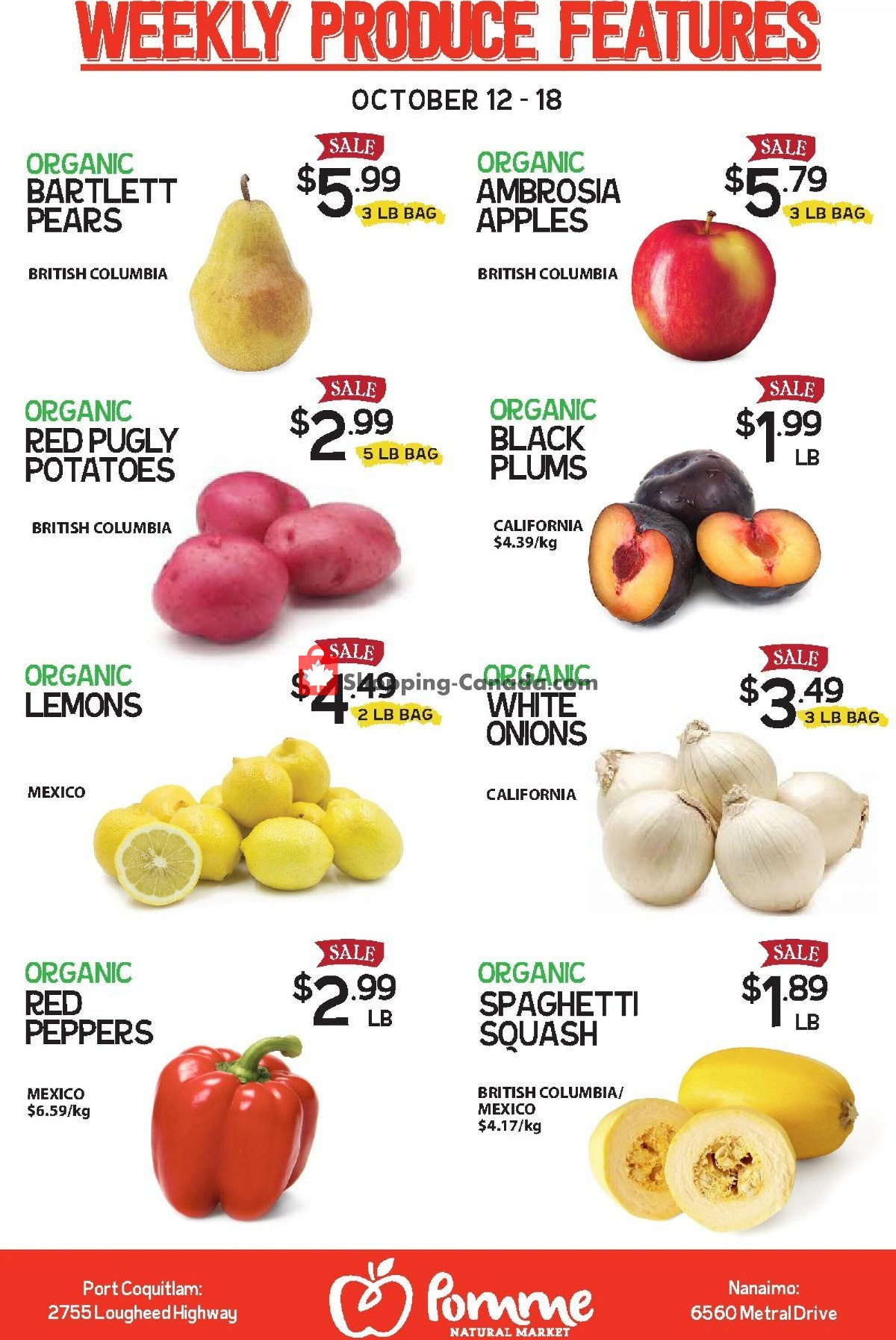 Flyer Pomme Natural Market Canada - from Tuesday October 12, 2021 to Monday October 18, 2021